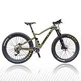 RUPO Bicycle Bicicleta de montaña Bicicleta Completa de Fibra, GX REBA, 17.5in