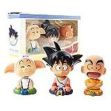 VNNY 3 Pezzi/Set Dragon Ball Z Son Goku Krillin Crilin Oolong Modello d'infanzia Giocattoli Decorazioni per Auto