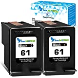 InkWorld Remanufactured Ink Cartridge Replacement for 61 (2 Black) Use for HP DeskJet 2512 1512 2541 2542 2540 2544 3000 3052a 1056 1055 3051a 2548 Envy 4500 4501 4502 4504 5530 OfficeJet 4630 Printer