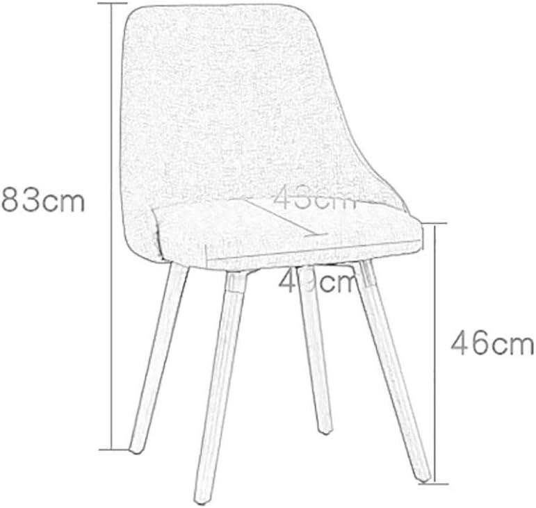 GAIQIN Forte e Durevole Sedia in Tessuto in Legno massello Pad-Creative Schienale Sedia-Office Sgabello-Sedia da Pranzo per Adulti 83 * 49 * 46cm (Colore : D) E