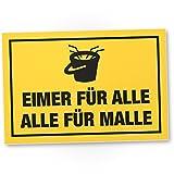 DankeDir! Alle Malle Kunststoff Schild mit Spruch - Eimersaufen, lustiges Geschenk für ihn,...
