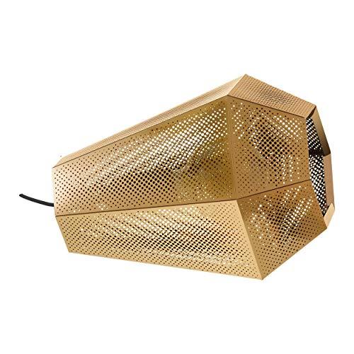 EGLO Lámpara de mesa Chiavica 1, 1 lámpara de mesa industrial vintage, moderna, lámpara de noche de acero, lámpara de salón en latón, lámpara con interruptor, casquillo E27