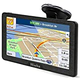 Hieha 7 Inches Navigation System for Car Truck Vehicles with Pre-Loaded Latest US\/CA\/MX Maps, 8GB 256Mb Touch Screen GPS Navigation Device with Car Bracket Holder, Lifetime Free Map Updates