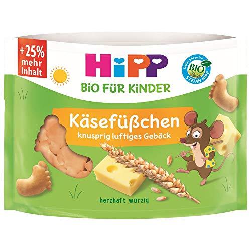HiPP Bio für Kinder Knabberprodukte Käsefüßchen, 35 g