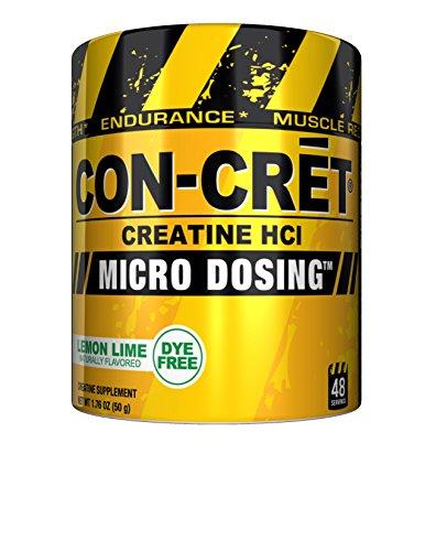 CON_CRET Creatine HCL, Lemon Lime,1.76 oz, 48 Servings