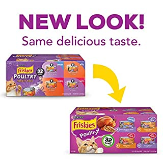 Purina Friskies Poultry Adult Wet Cat Food Variety Pack - (32) 5.5 Oz. Cans