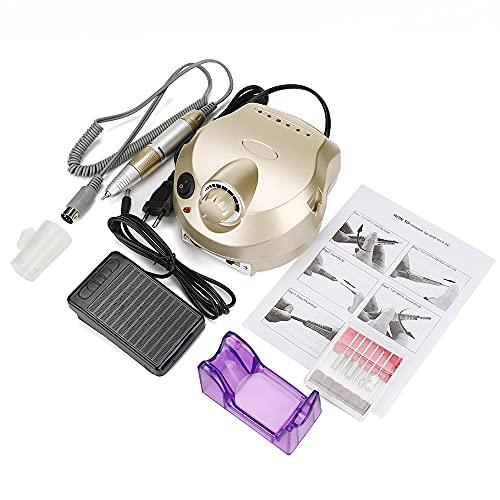 Lijadora nueva Aparato máquina profesional 30000 RPM para manicura, kit pedicura, lima eléctrica con cortador, taladro uñas, broca para pulir arte
