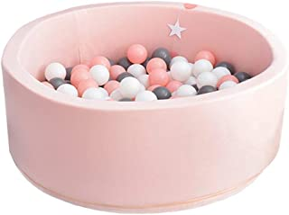 zhenyu Luxury Handmade Children's Foam Ball Pit Quality Durable Non-Toxic Safety Material, SOFE and Thick (Pink)