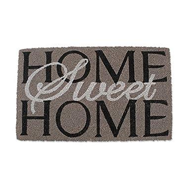 J&M Home Fashions Natural Coir Coco Fiber Non-Slip Outdoor/Indoor Doormat, 18x30, Heavy Duty Entry Way Shoes Scraper Patio Rug Dirt Debris Mud Trapper Waterproof-Home Sweet Home