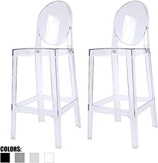 Fantastic Amazon Com Clear Bar Stools Unemploymentrelief Wooden Chair Designs For Living Room Unemploymentrelieforg