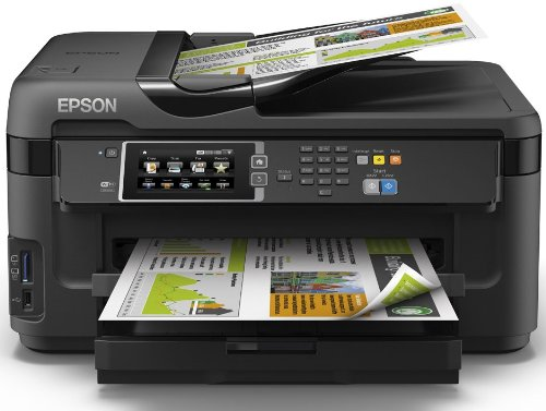 Epson Workforce WF-7610DWF - Impresora multifunción de Tinta (WiFi, WiFi Direct y Ethernet, Color 10 PPM, USB), Color Negro, Ya Disponible en Amazon Dash Replenishment