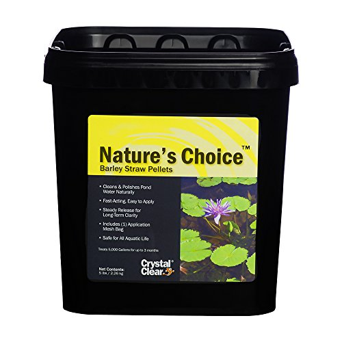 CrystalClear Nature's Choice Barley Straw Pellets - Natural Pond Treatment - 5 Pound Bucket Treats Up to 15,000 Gallons