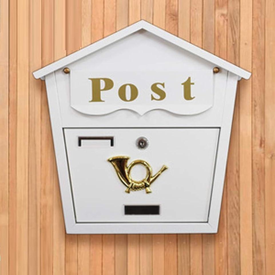 満足させるパークトランクRMJAI メールボックス メールボックス壁別荘メールボックスレターボックス屋外メールボックス投票選挙ボックスガーデンショップデコレーションボックス (色 : シルバー しるば゜)