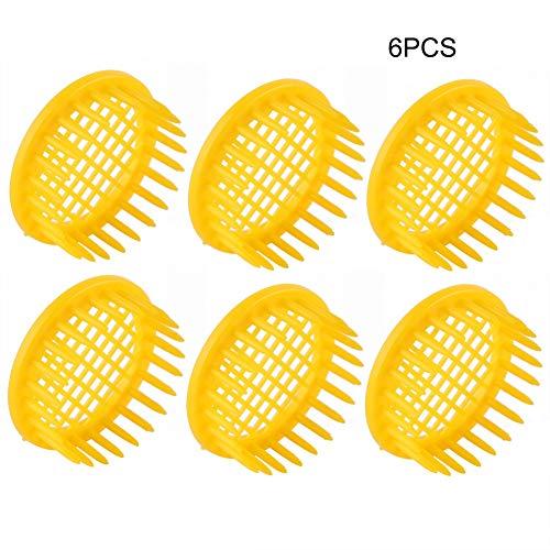 Jeffergarden, 6 Piezas, Equipo de Apicultura de Células de Caja de Cría de Abeja Reina, Herramienta Esencial Duradera y Reutilizable para Apicultores