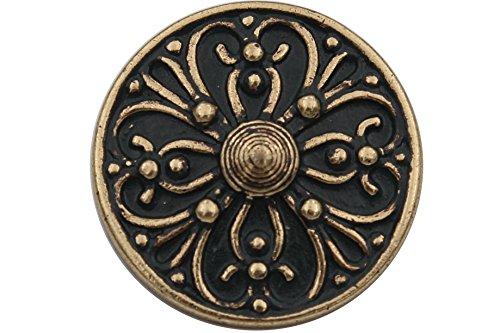 Gouden metalen knopen donkergroen en goud, landelijke klederdracht dirndljurk Made in Germany, ca. 15 mm of ca. 20 mm metalen knopen (6 stuks)