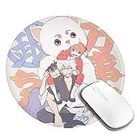 銀魂 マウスパッド丸型 個性的 ゴム製裏面 ゲーミングマウスパッド かわいい PC ノートパソコン 円形 デスクマット 滑り止め