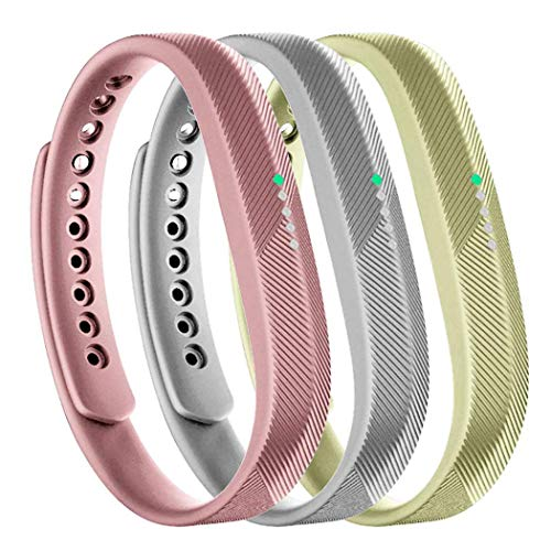 Molitececool Kompatibel mit Fitbit Flex 2 Armband,Weiche Silikon Ersatz Zubehör Ersatzarmband für Fitbit Flex 2