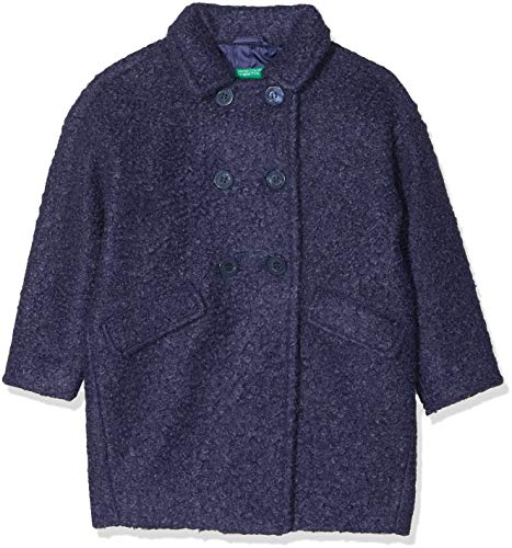 United Colors of Benetton Coat, Suit Jacket for Girls, Blue - 4 years (Manufacturer Size: 4-5 years / 110 cm)
