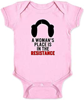 A Woman's Place is in The Resistance Feminist Infant Baby Boy Girl Bodysuit