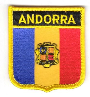 Wappen Aufnäher Patch Andorra Flagge Fahne NEU
