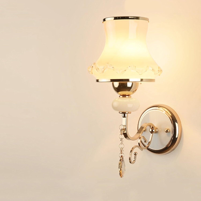 GXY Europische Kristallwand Lampe Schlafzimmer Lampe Wohnzimmer Lampe Wand Lampe einfache Moderne kreative Nachttischlampe Wandlampe