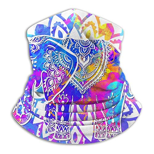 DFGHG Camping Randonnée Vêtements Hommes Chapeaux Chapeaux Chapeaux multifonctionnels Beautiful Datura Elephant Unisex Microfiber Neck Warmer Headwear Face Scarf Mask For Winter Cold Weather Mask Band