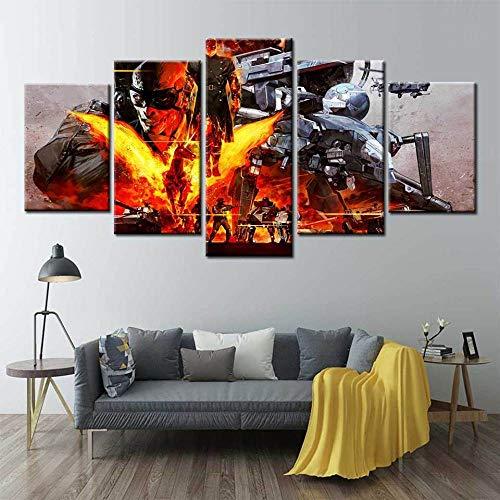 YQSL Cuadro sobre Lienzo Lienzo Pintura Arte de la Pared Metal Gear Solid V The Phantom Pain Poster Videojuegos Carteles e Impresiones Cuadros de la Pared