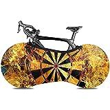 Cubierta De Bicicleta,Flaming Dartboard Sports Game Fundas De Bicicleta Adecuadas para Bicicletas Plegables O Bicicletas De Carreras