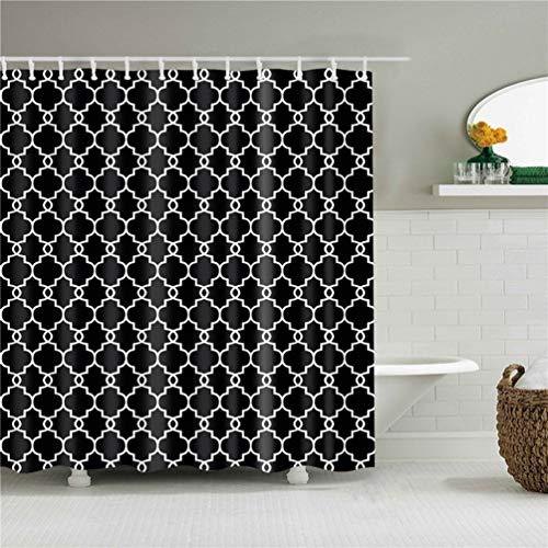 Feidaeu Bad Display Vorhang Duschvorhänge Wasserdicht Mildewproof Klassische Retro Style Plaid Druck Badezimmer Dekoration