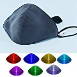 7 Color change Lights LED Light up Face Mask USB Rechargeable Glowing Dust Mask for Christmas Party Festival Dancing Rave Masquerade Costumes(white)