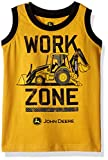 John Deere Boys' Toddler Muscle T-Shirt, Construction Yellow/Black, 4T
