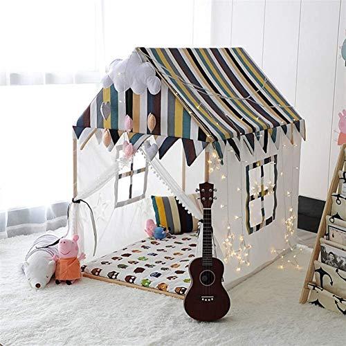 SHUNFENG-EU Rayas clásicas Chicos y niñas Juegos de interior y al aire libre Tienda de niños Camilla para niños para niños Tiendas de lona de algodón suave, Juguetes de madera, Sala de juegos para niñ