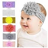 Freesiom Lot de 6 Bandeau Bébé Fille Cheveux Fleur Kawaii Elastique Hairband Enfant Serre Tête Accessoires Naissance Baptême...