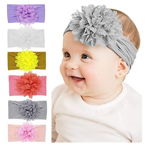 Freehium Bandeaux B/éb/é Fille Lot de 8 Cheveux Lapin Oreille Noeud Gros Kawaii Elastique Hairband Enfant Serre T/ête Accessoires Naissance Bapt/ême No/ël Multicolore