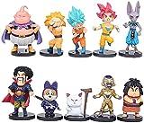 CYSJ Dragon Ball Cake Topperl 10pcs Anime Dibujos Animados Juguetes Modelo decoración de la Torta Carácter De Dragon Ball Figurines Decoración De La Torta Coleccionables Adorno de Torta