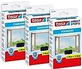 Tesa 55672 Insect Stop Standard - Mosquitera para ventanas (3 unidades, 130 x...