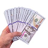 GoodOffer 100 Dollars Play Money – Realistic Prop Money 100 pcs. – Total of $10,000 Copy Money with Two Sides for Pranks, Games, Monopoly – Educational Play Money for Kids – Prop Hundred Dollar Bills