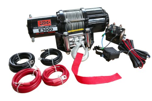 Engo 77A-03000-A 3,000 Lb. (1361Kg) 12 Volt Electric Winch for ATV, Load Holding Brake