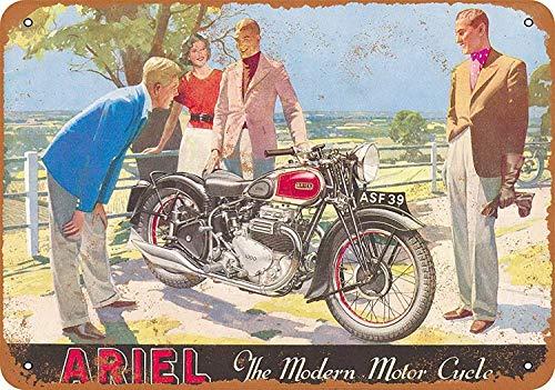 niet Ariel Motorfiets Tin Metalen Teken Plaque Vintage Retro IJzeren Muur Waarschuwing Poster Decor Voor Bar Cafe Store Home Garage Office Hotel