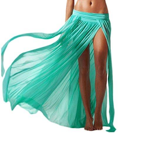 Inception Pro Infinite Falda Pareo - Funda de Disfraz - Adecuado para Adultos Mujer y Niña - Largo - Color Verde Agua