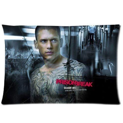 TA Triumph Adler Custom Michael Prison Break Home Decorative Soft Throw Pillowcase Cushion Custom Pillow Case Cover Protecter with Zipper Printed Kissenbezüge (40cmx60cm)