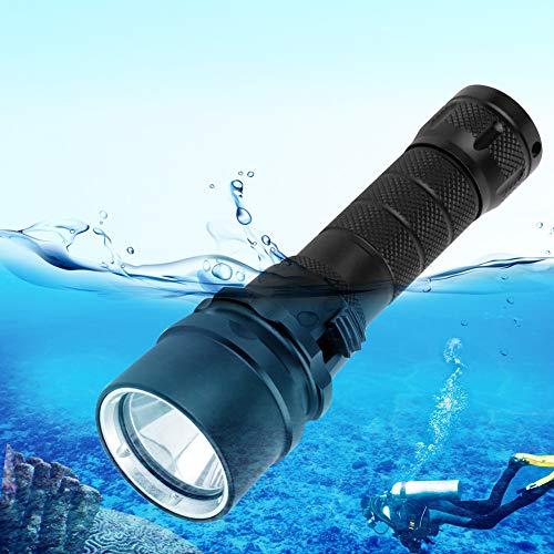 Changor Submarino Buceo Linterna, 1 Hora 100% Brillo Utilizando Tiempo 4 Horas 10% Brillo Utilizando Tiempo 3 Horas 50% Brillo Utilizando Tiempo Noche Bucear Antorcha con Aluminio Aleación