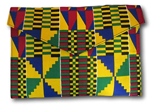 Kente Ankara Clutch, African Kente Purse, African Handbag, Ankara Clutch, African Print Bag