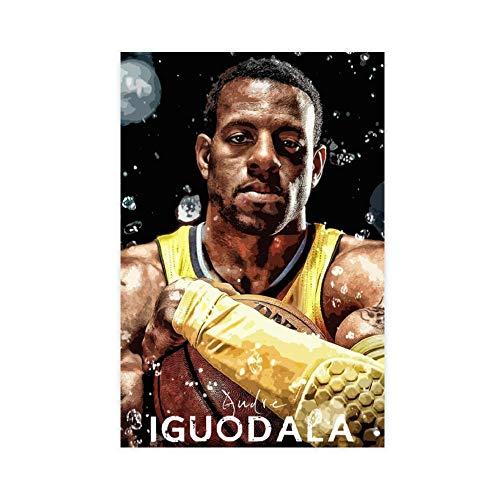 Superstar - Póster de baloncesto Andre Iguodala, diseño de Andre Iguodala, para decoración de dormitorio, deportes, paisaje, oficina, habitación, regalo, estilo Unframe, 60 x 90 cm