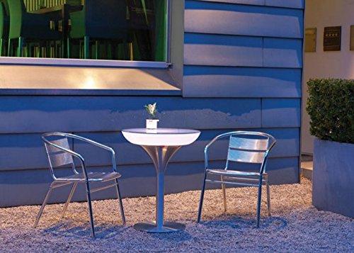 Gowe D80 * H110 LED Lumineux LED meubles LED haute Table de bar, salon, table basse batterie pour bar/Noël/événements
