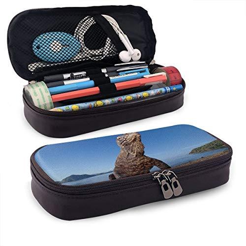 Komodo Drache Komodo Island Indonesien Federmäppchen Federmäppchen Stiftehalter Box Organizer Durable Studenten Schreibwaren mit Doppelreißverschluss Stifthalter für Schule/Büro/Reisen