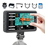 Desview R5 Monitor, 5.5 inch Touch Screen Monitor On Camera Field Monitor 4K HDMI 1920 * 1080 Full HD 3D LUTs HDR, for DSLR XLR Camera Camcorder