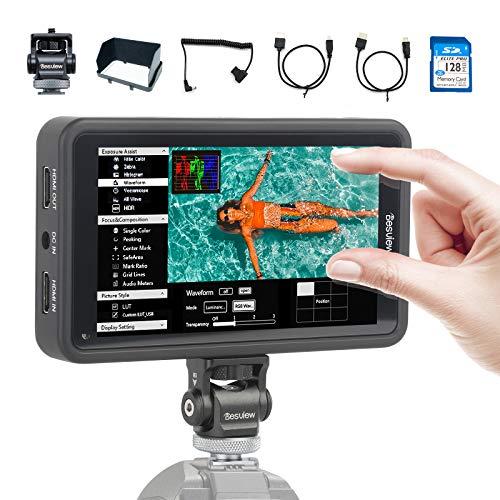 Desview R5 Kamera Monitor Touchscreen, 5,5 Zoll DSLR Field Monitor, 3D-Lut Externer Feldmonitor Bildschirm Display Screen, HDR, 1920x1080 HD, 4K HDMI Eingang/Ausgang für Canon Nikon Panasonic Sony