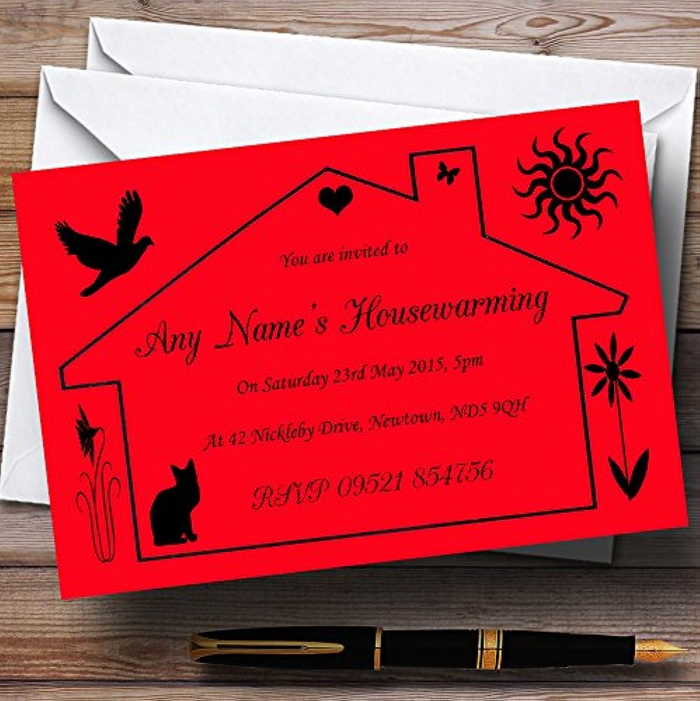 marca de lujo Rojo Diseño inauguración de de de la casa fiesta invitaciones  mejor moda