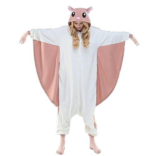 314898b69b NEWCOSPLAY Flying Squirrel Costume Sleepsuit Adult Pajamas